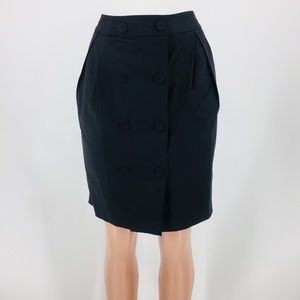 Banana Republic Pleats and Button Front Wool Skirt
